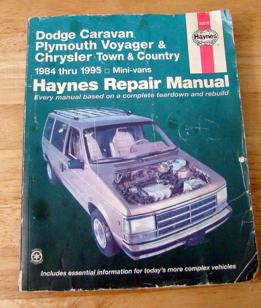 dodge caravan haynes repair manual 1984 1995 plymouth voyager rh pinterest co uk Chrysler Sebring Manual Fireplace Insert Manuals