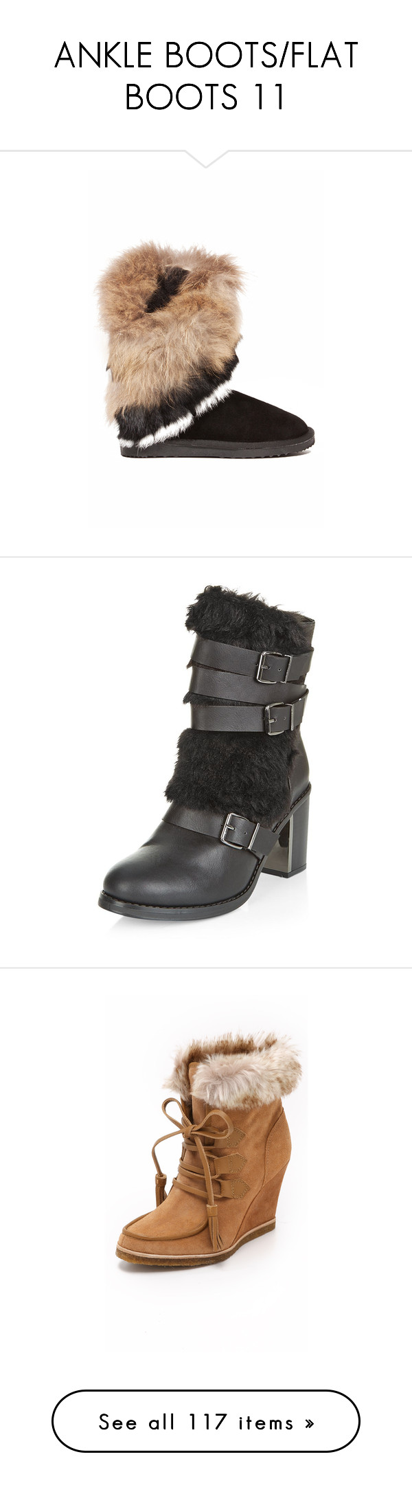"""ANKLE BOOTS/FLAT BOOTS 11"" by kazza-smith ❤ liked on Polyvore featuring shoes, boots, black, mid-calf boots, black round toe boots, low heel boots, black boots, black mid boots, black low heel boots and black faux fur boots"