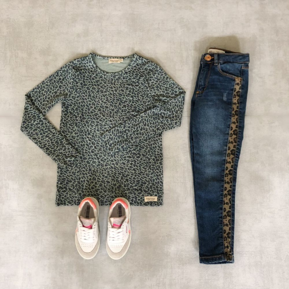 Shop The Look Little Leopard Met Shoesme Sneakers Gespot Op Kindermodeblog Outfits Kleding Kinderkleding