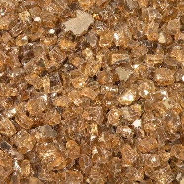 American Fireglass 1 2 Inch Premium Fire Glass 10 Pounds Copper Reflective Fire Glass Glass Fire Pit Glass