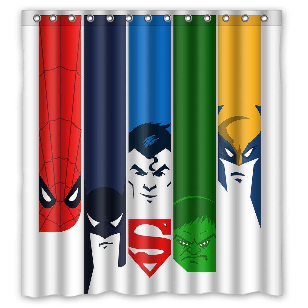 Amazon Com Custom Comics Superhero Logo Design Waterproof