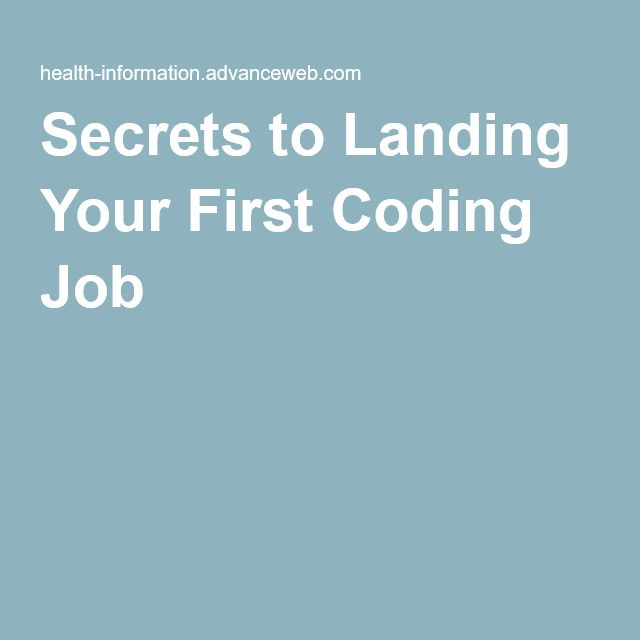 Secrets to Landing Your First Coding Job Medical Coding