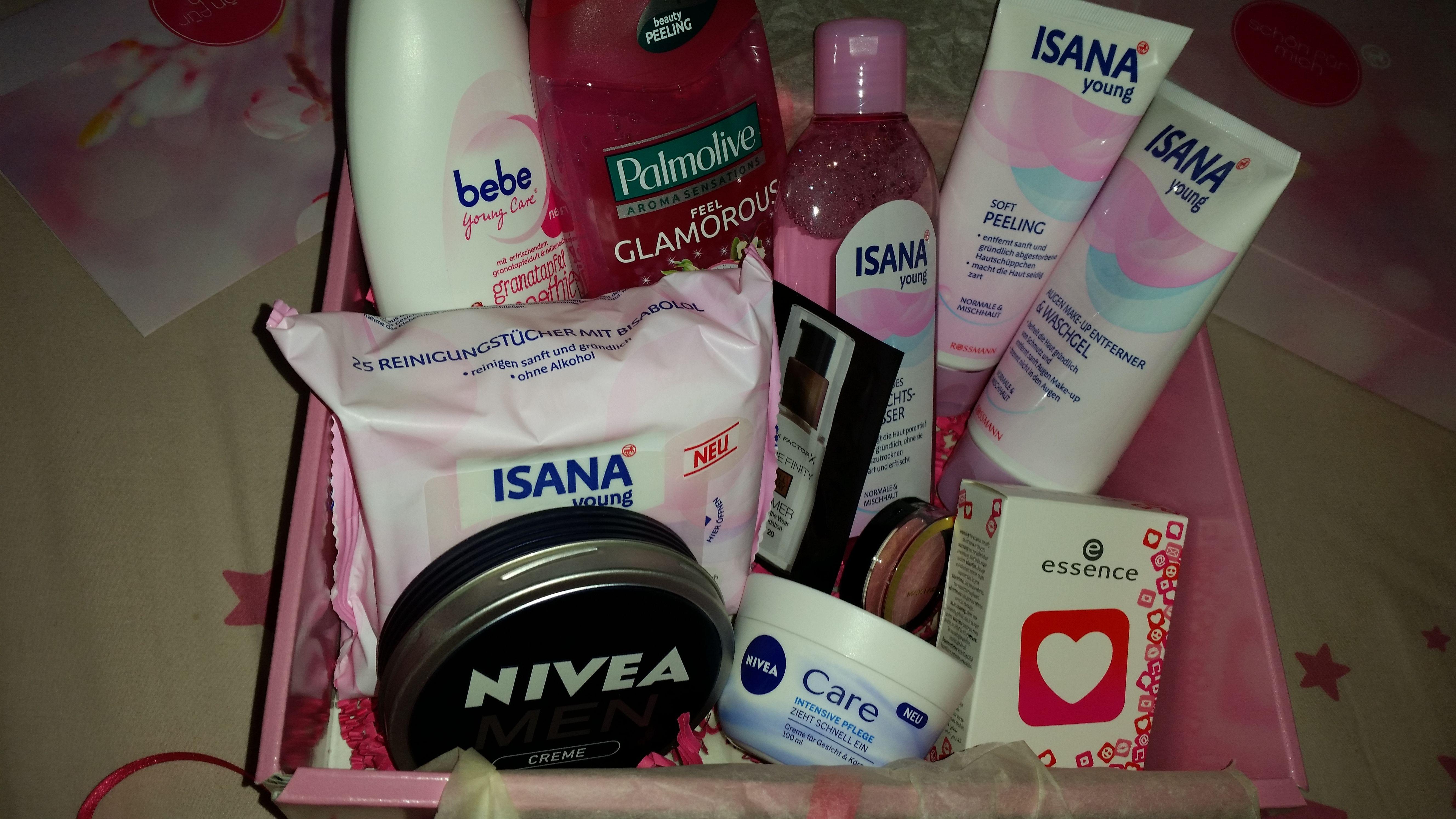 Schön für mich Box Mai waren viele Produkte der Eigenmarke ISANA dabei!