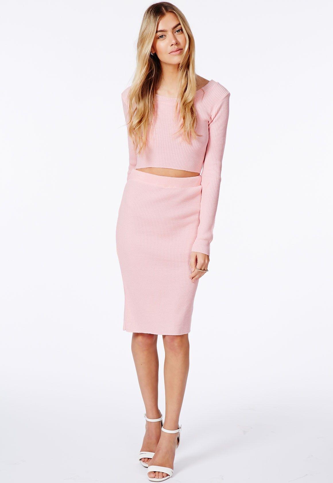 pink midi pencil skirt dress ala