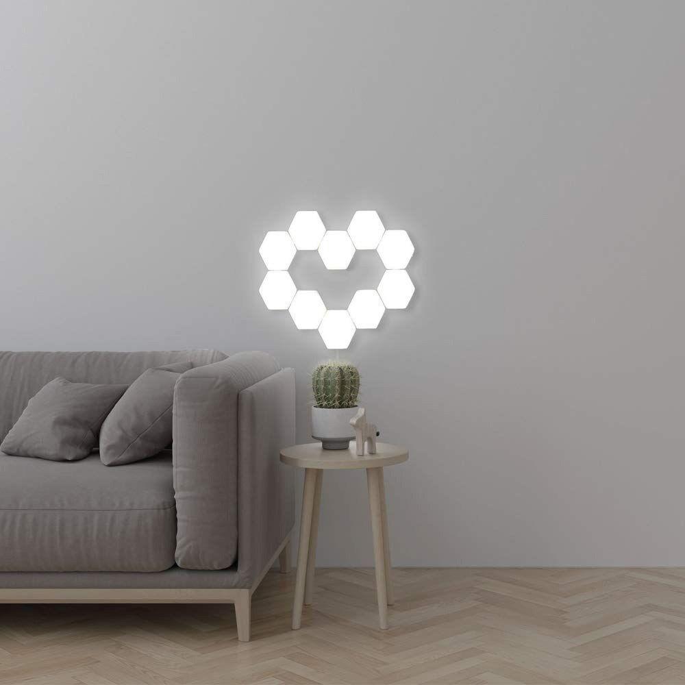 Quantum Lamp Hexagonal Lamps Modular Touch Sensitive Lighting Led Night Light Magnetic Hexagons Creative Decoration Wall Lamp Wall Lights Light Panels Home Decor