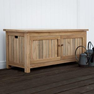 Teak Outdoor Bench With Storage Outdoor Storage Bench Garden