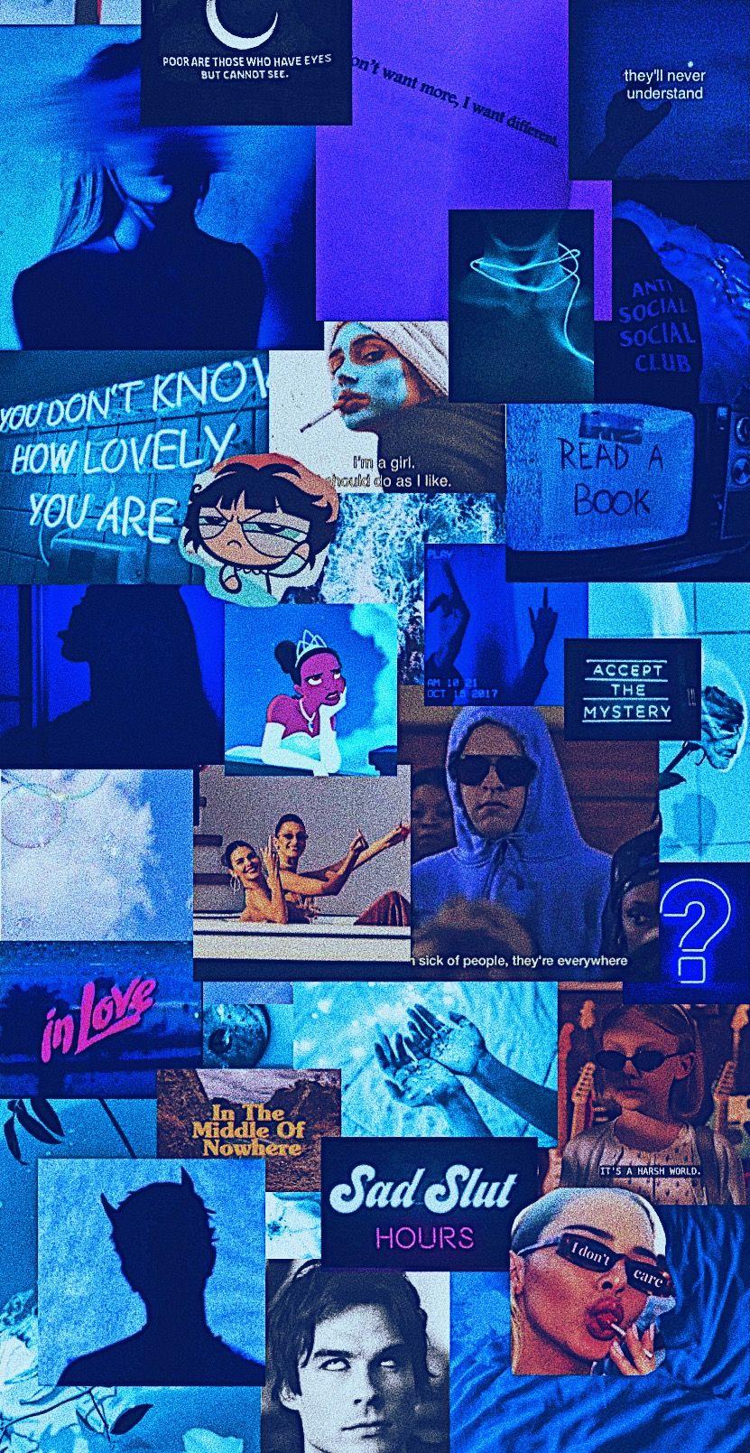 Where S My Mind Blue Aesthetic Grunge Blue Wallpaper Iphone Dark Blue Wallpaper
