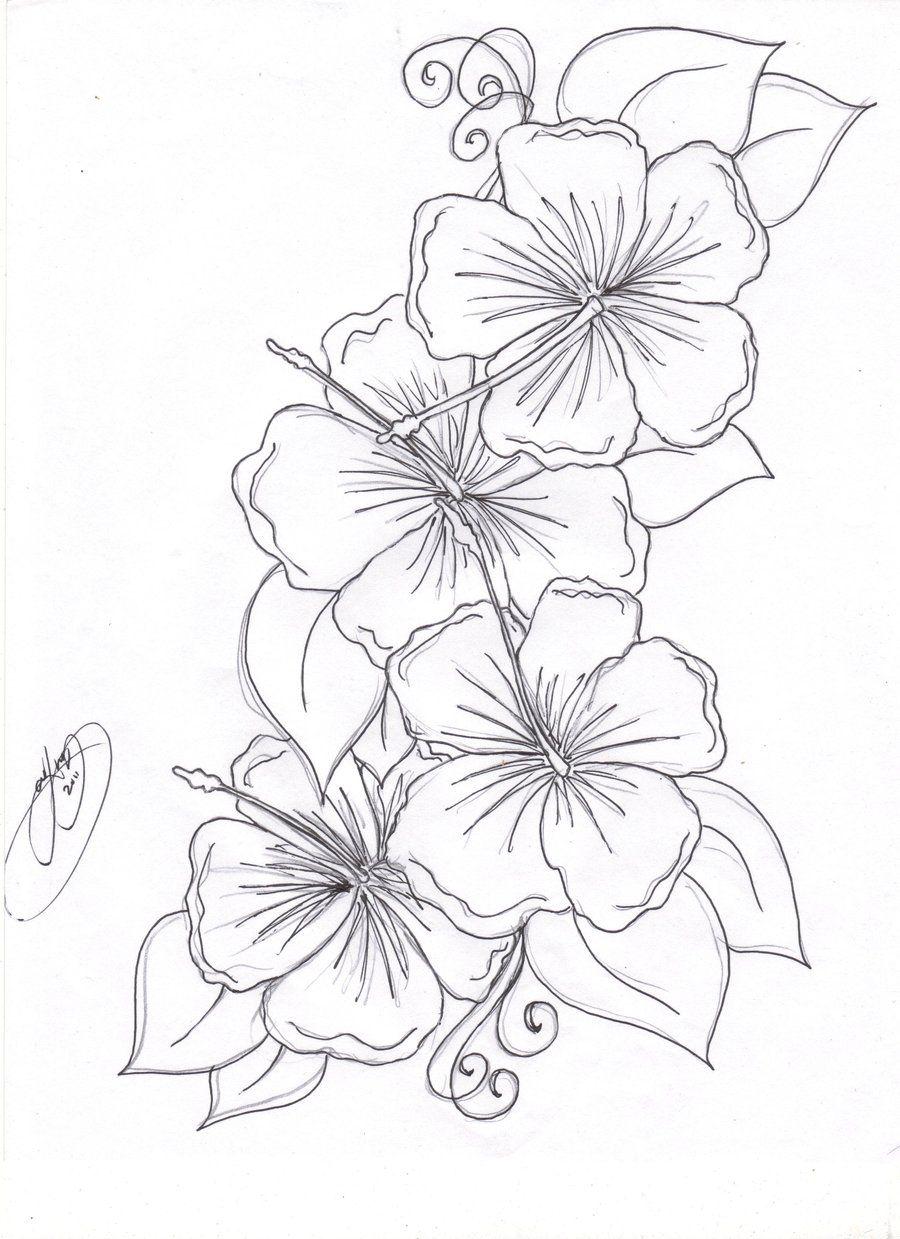 fbcdbbce3718c hibiscus flowers by Closet-Case-808.deviantart.com on @deviantART ...
