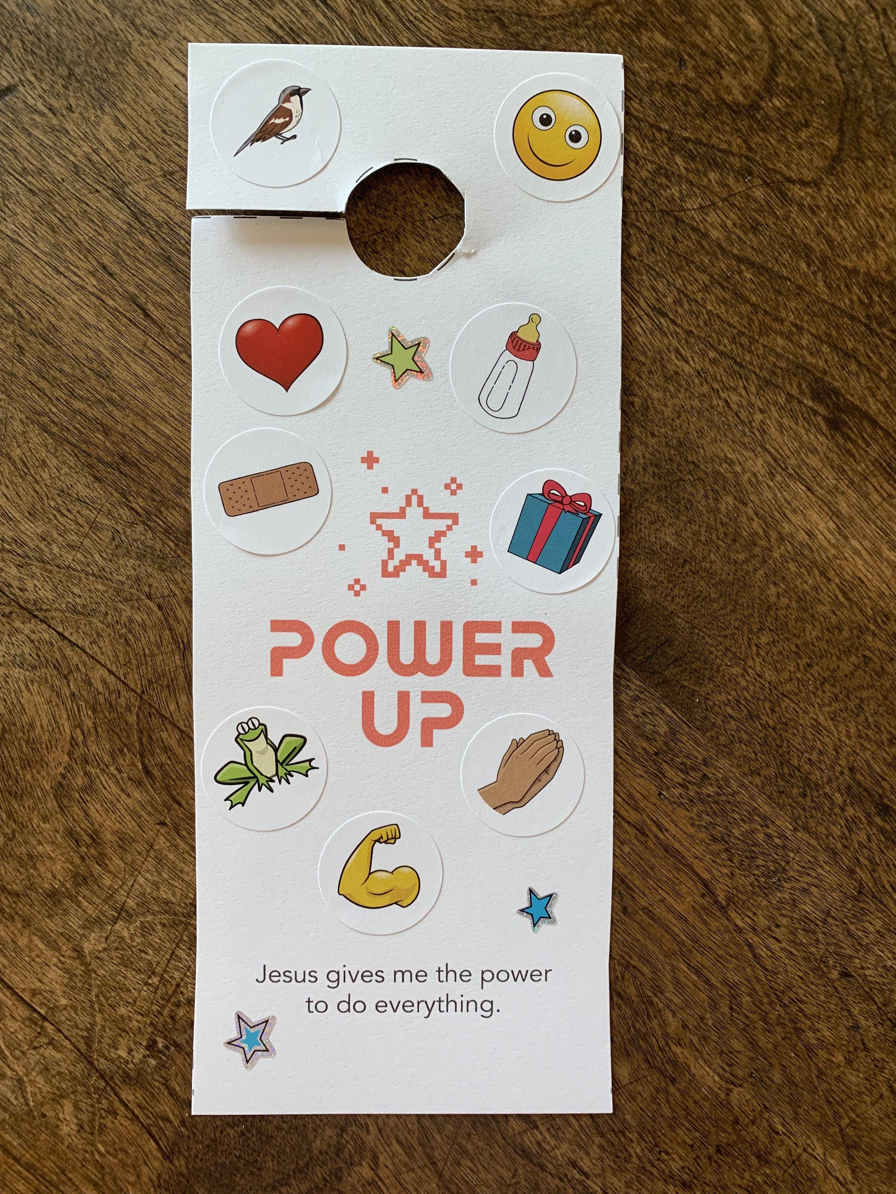 Sample Craft For 2s Week 4 Power Up Door Hanger