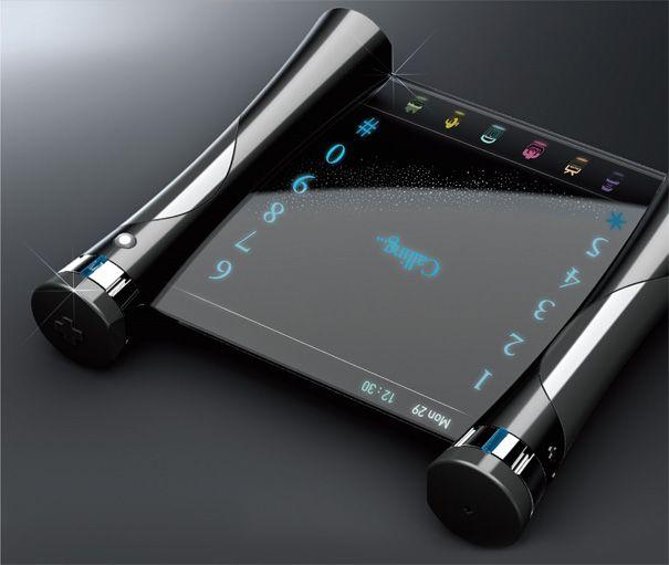 El concepto Sky Corea es un dispositivo móvil elegante y delgado que viene con un maravilloso touchpad azul luminoso. El teclado parece tener una buena tapa deslizante abierta que tiene luces OLED azules y algunos contro táctil ...