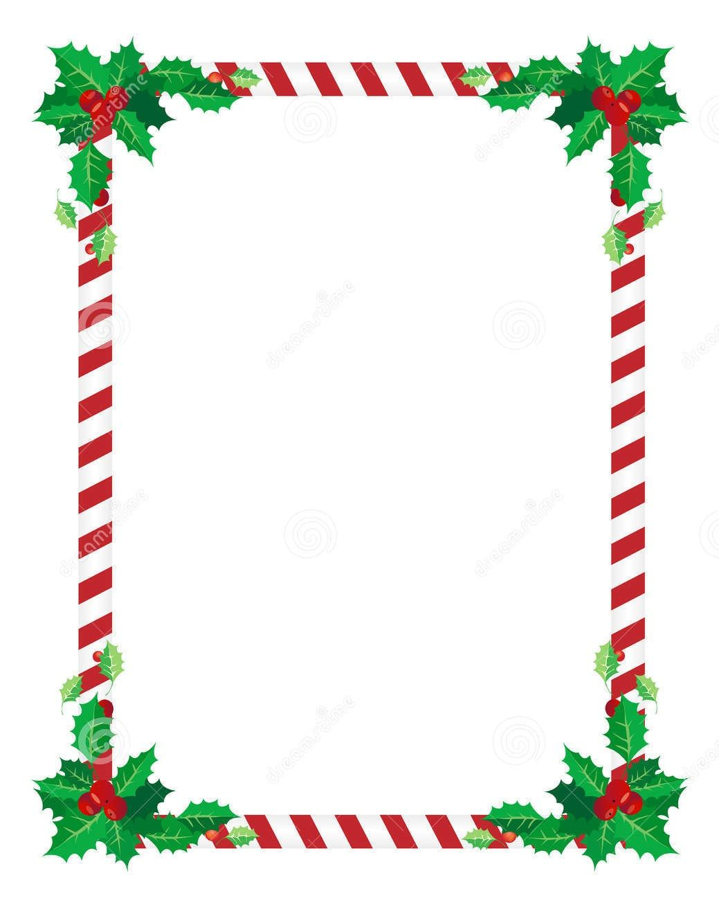 7 Best Images Of Printable Christmas Borders Landscape