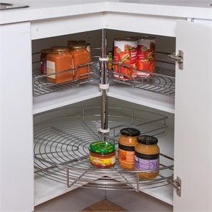 Restored 800mm 2 Tier 3 4 Circle Chrome Corner Carousel New Kitchen Kitchen Room Household Organization