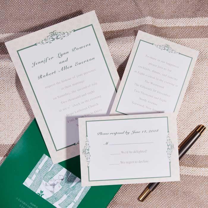 Simple but Elegant Wedding Invitations | Kindly R.S.V.P. Designs ...