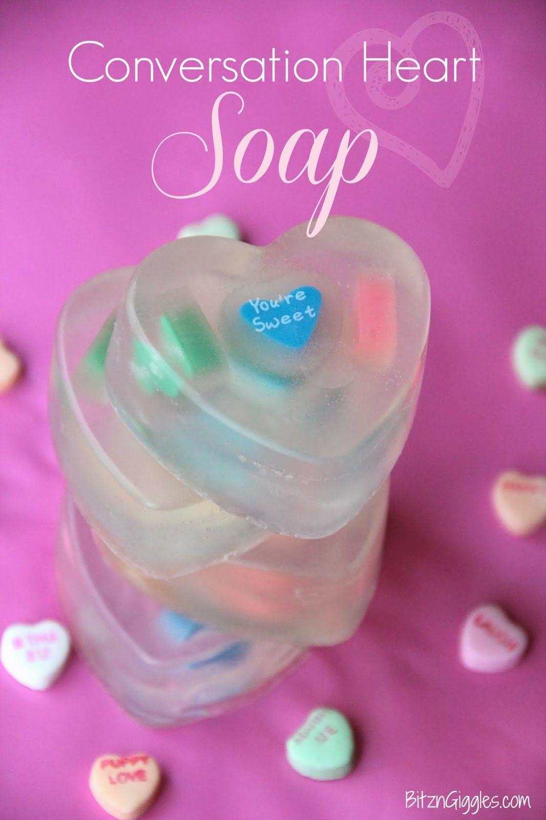 Conversation heart soap valentines day pinterest fun diy gift