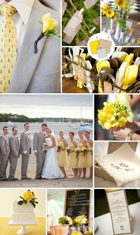 The Knot Tropical Wedding Colors Yellow Brown And Dove
