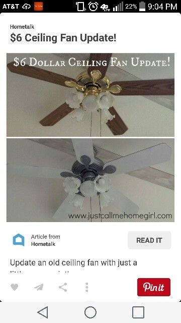 Ceiling Fan Redo Ceiling Fan Update Ceiling Fan Painting Ceiling Fans