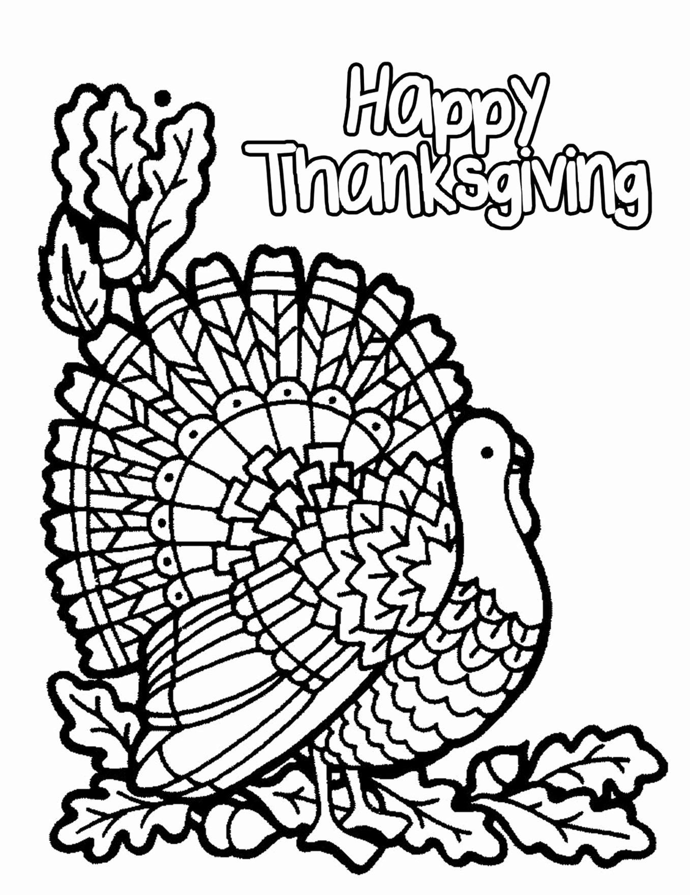 Happy Thanksgiving Turkey Coloring Pages New Coloring