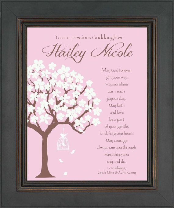 Goddaughter Personalized Gift Communion Or By
