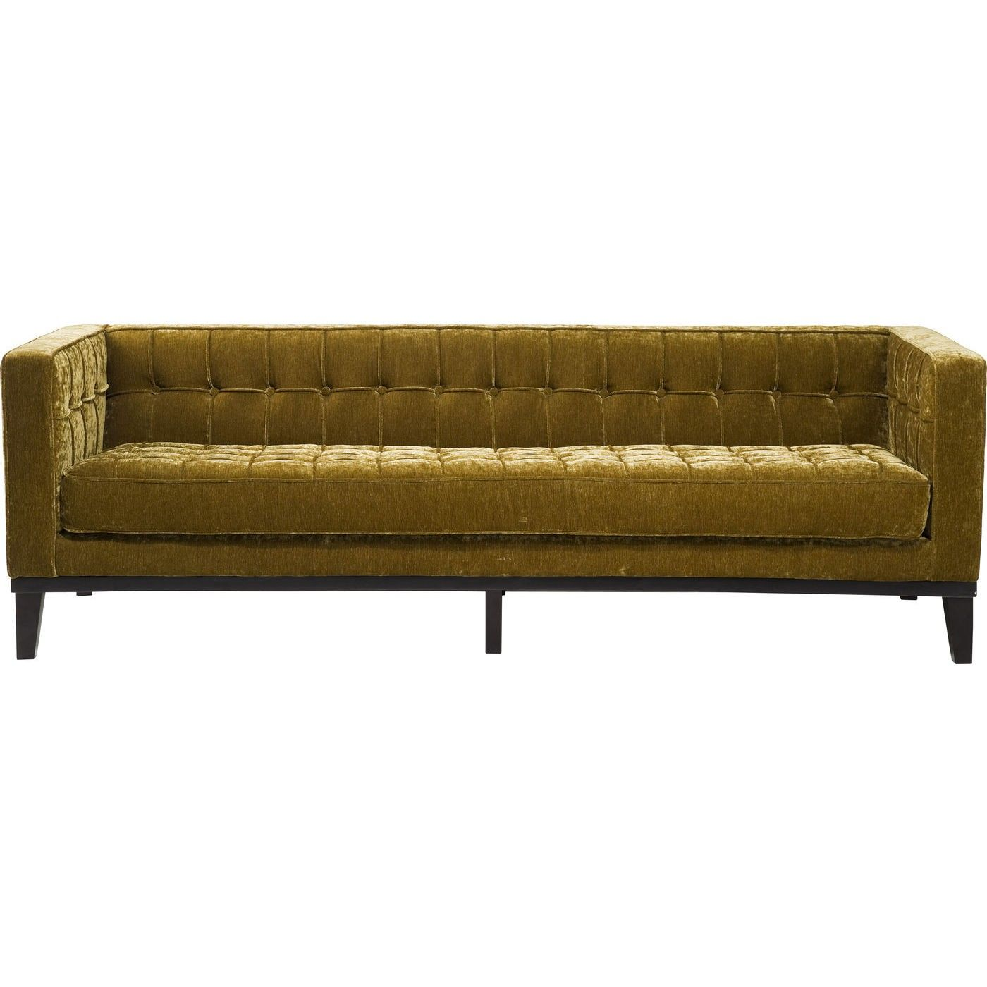 Sofa My Desire Samt 3 Sitzer Rubin