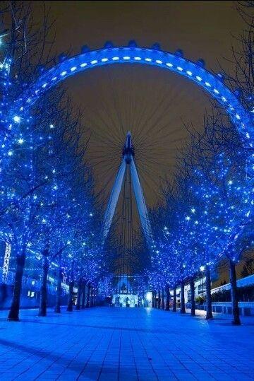 Blue lights, London