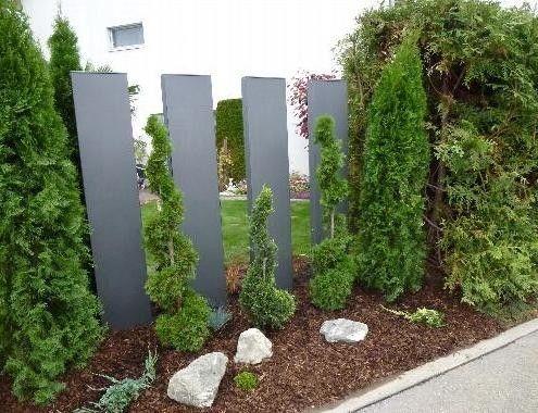 Sichtschutz Garten Modern Sichtschutz Garten Sichtschutzwand Garten Stelen Garten