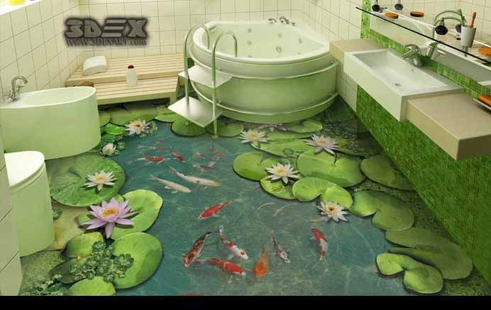D Tile Flooring Images D Bathroom Tiles Designs Unlimited - 3d printed floor tiles