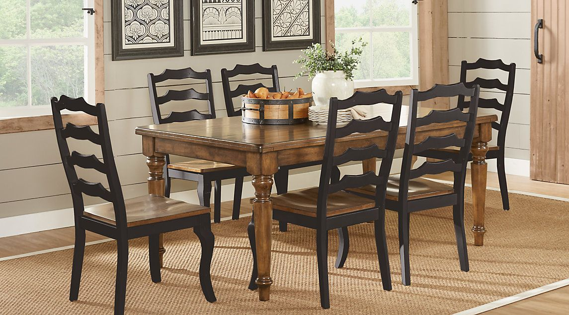 Twin Lakes Brown 5 Pc 72 in. Rectangle Dining Room cindy ...