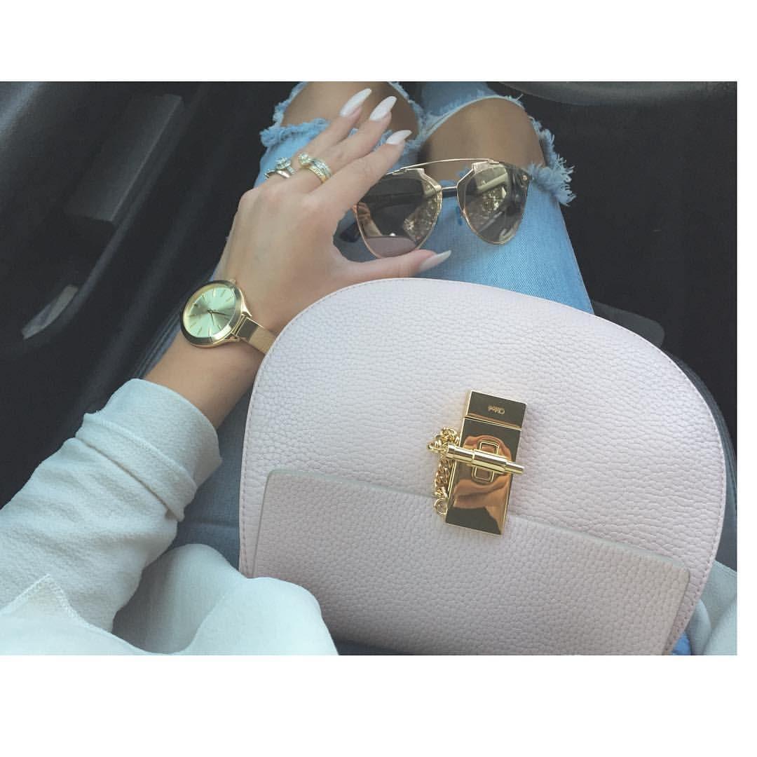 "Dresslikemila on Instagram: ""Details Drew @chloe Dior Reflected @dior pink gold Jean @zara Nails @naimainstitutlille da best #inspiration #style #chloe #dior #drew #reflected #mode #model #blogger #fashion #fashionista #fashionblogger #addict #pink"""