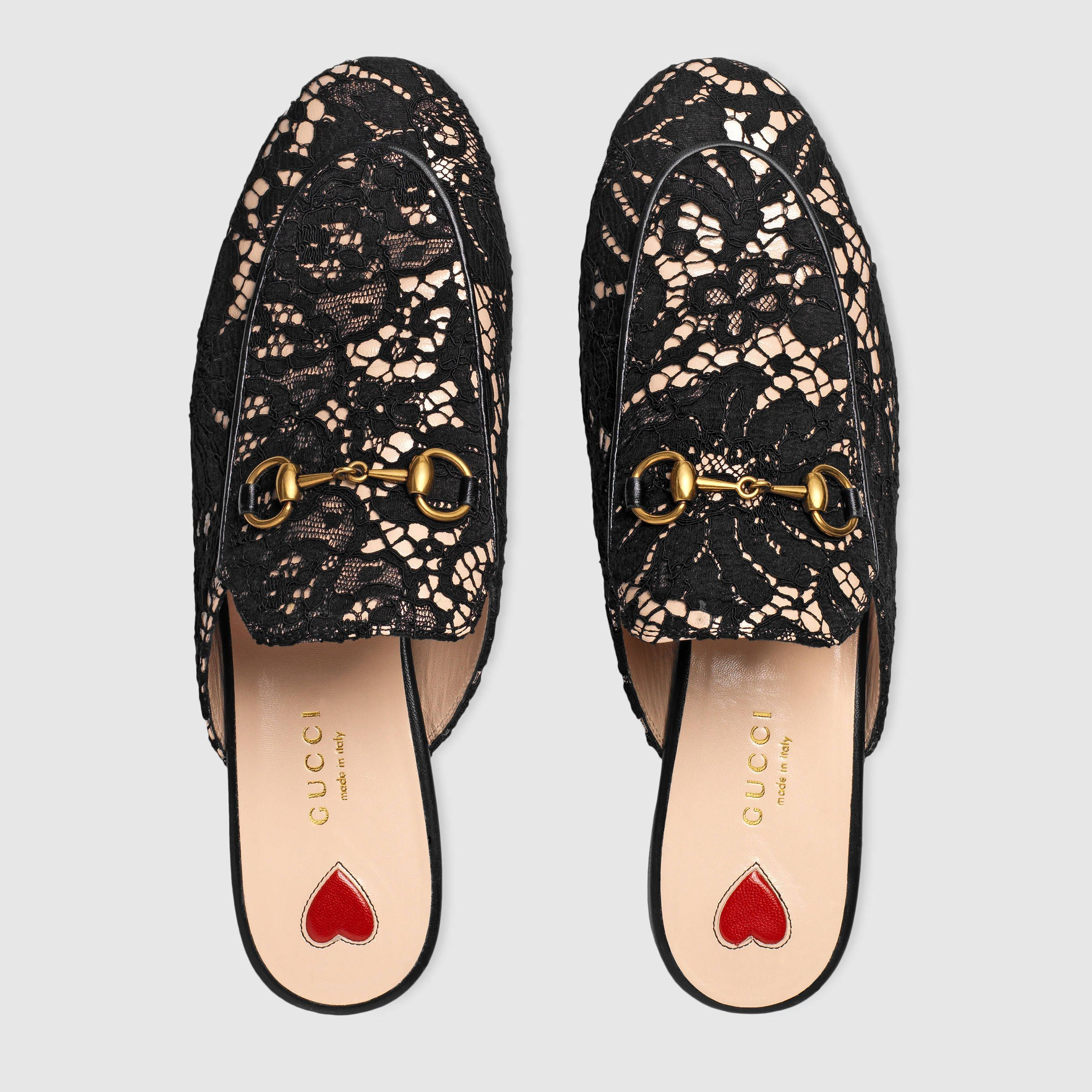 bdf0e0c98 Gucci Princetown lace slipper Detail 3 | Shopping! in 2019 | Shoes ...