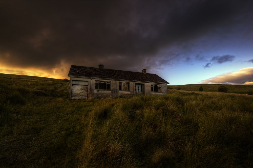 Abandoned cottage on the Plumbridge Road near Cranagh. County Tyrone, Ireland .  https://www.picturedashboard.com