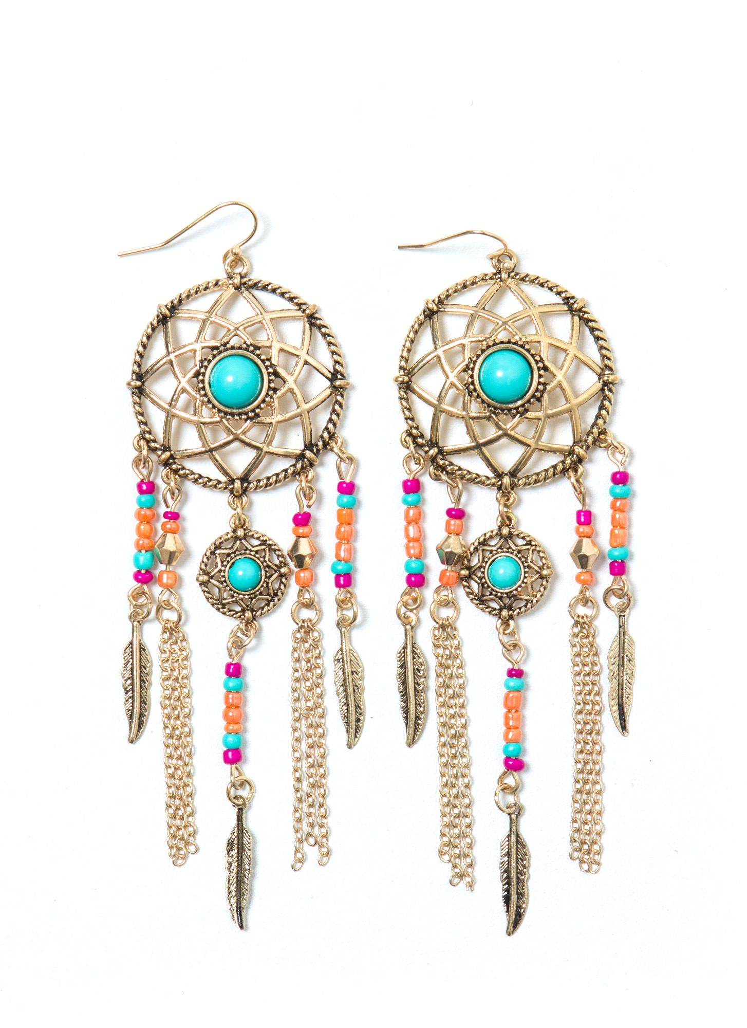 Follow Ur Dream Catcher Earrings Jewelry Western Cute Boho