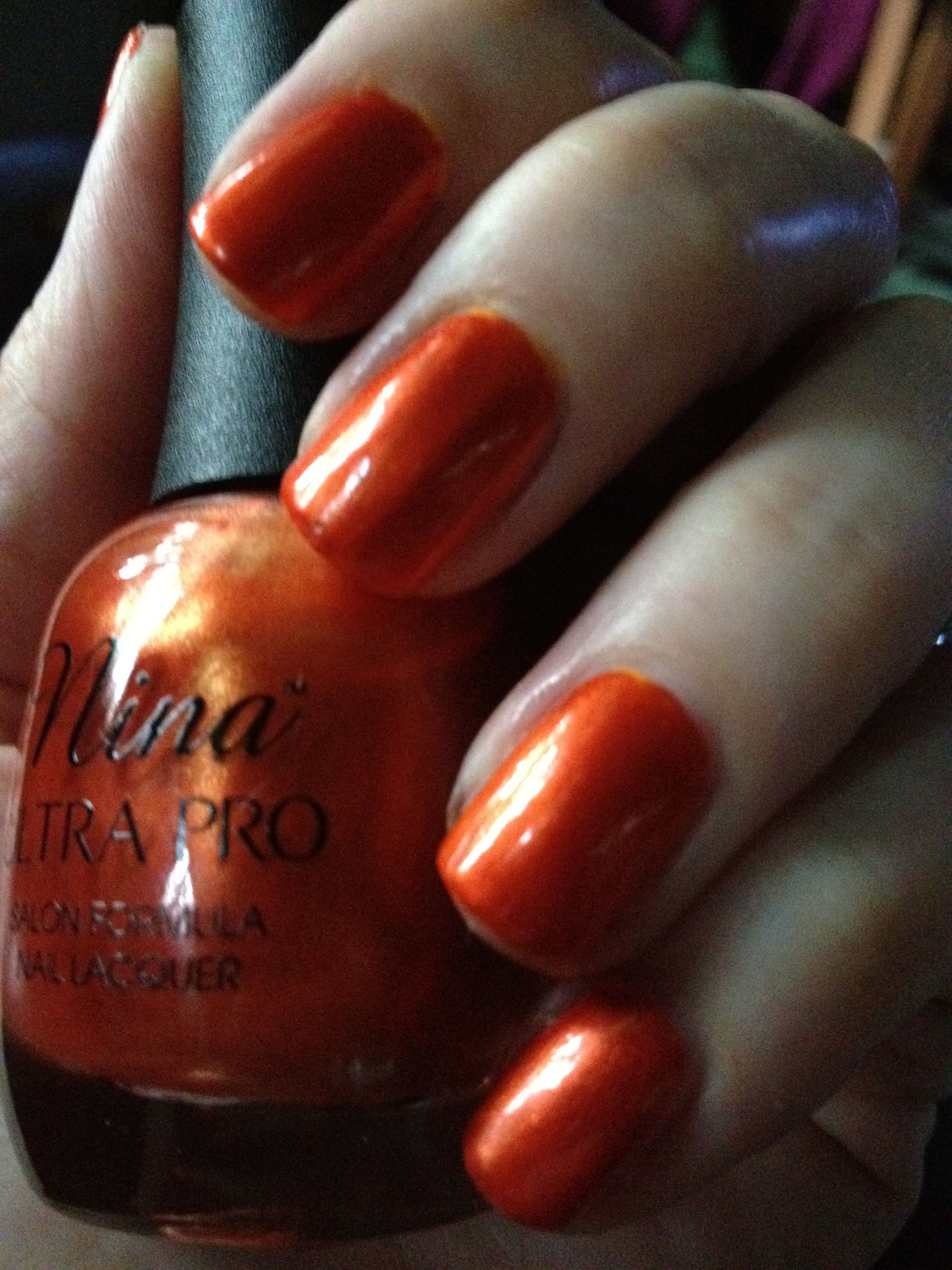 Nina Ultra Pro Burnished Bronze nail polish. Go Florida Gators ...