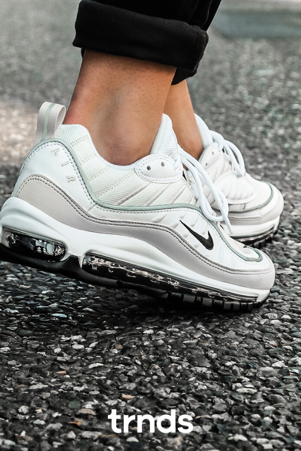Nike Air Max 98 White Fossil Womens   Where To Buy   AH6799-102 ...