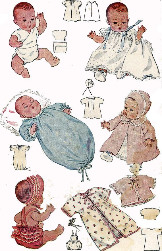 Vintage Doll Clothes PATTERN 2659 for 11 in Dy Dee by BlondiesSpot ...