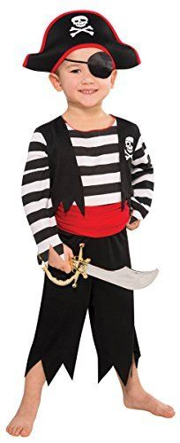 Amscan Children's Rascal Pirate Costume Size Toddler 3-4T
