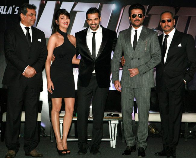John Abraham, Anil Kapoor, Shruti Haasan, Paresh Rawal and Nana Patekar came together to announce the arrival of 'Welcome Back'. #Bollywood #Style #Fashion