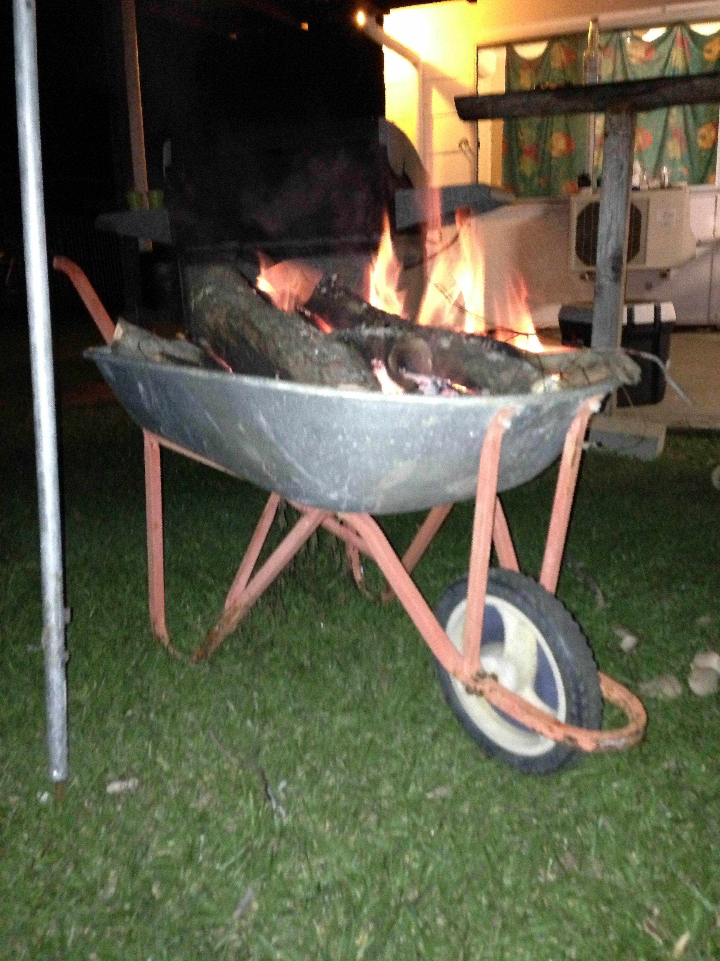 Wheelbarrow Fire Pit Wheelbarrow Garden Tools Fire Pit