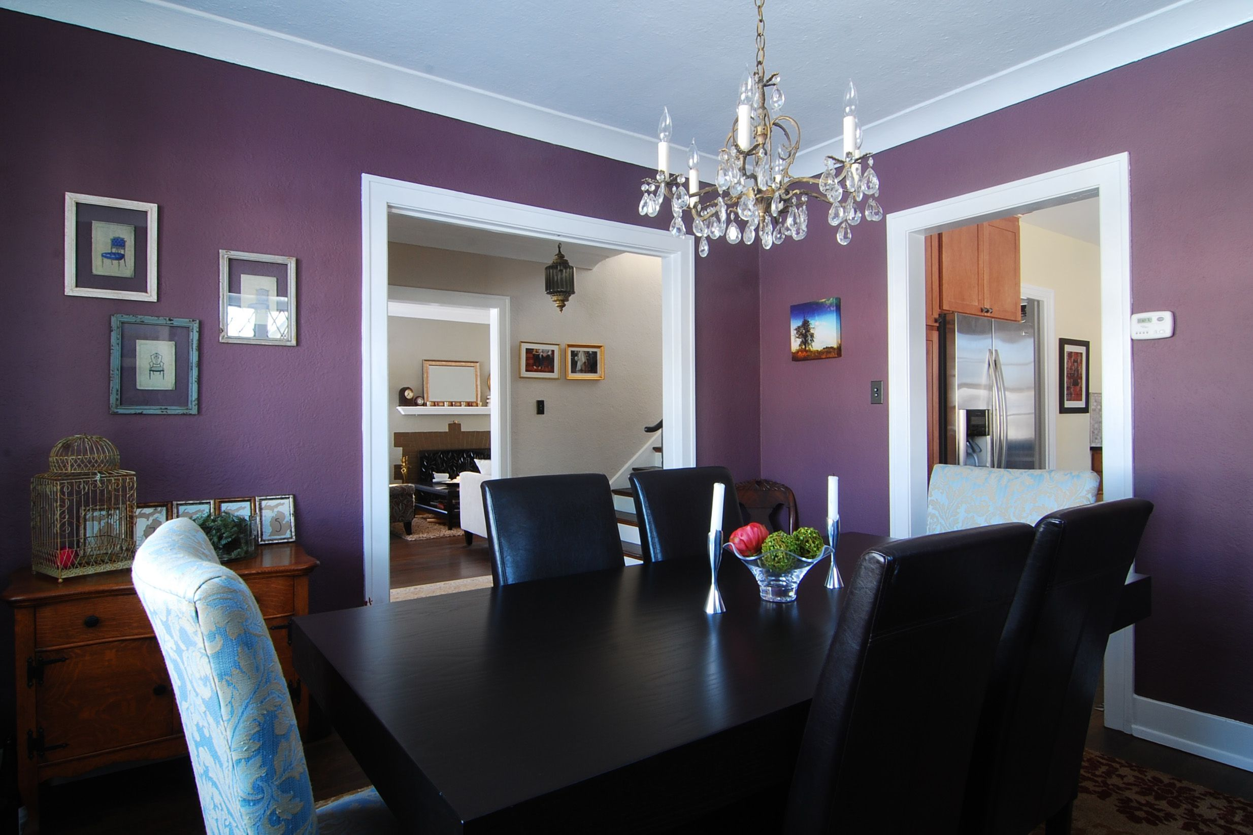 Dining Room In Plum Deep Violet Interior Paint Color From Behr
