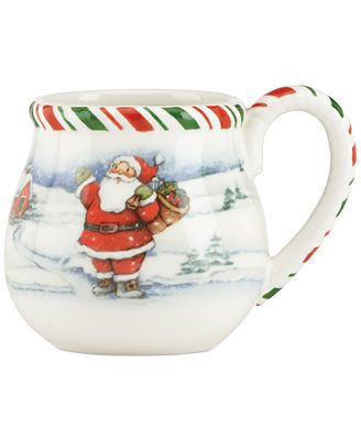 Kathy Ireland Once Upon A Christmas Mug Available At Macys Com Inspired By Cherished Family Heirlooms T Christmas Mugs Everyday Dinnerware Set Kathy Ireland