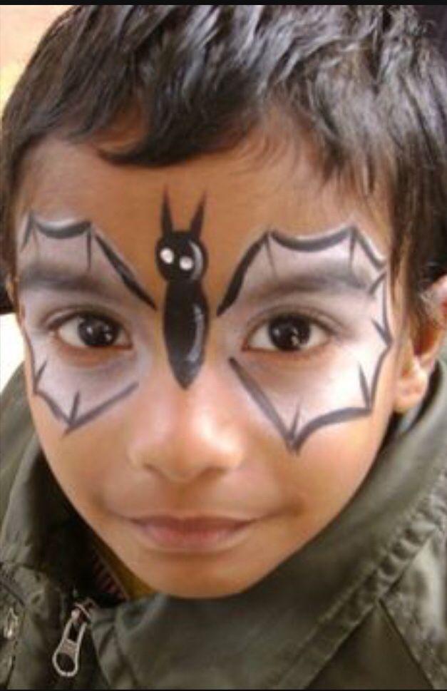Bat Boy Face Painting Halloween Festival Face Paint Face