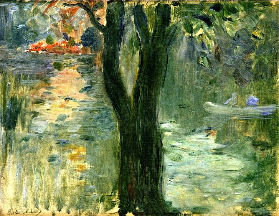 Sunset at the Lake in the Bois de Boulogne  Berthe Morisot- 1894