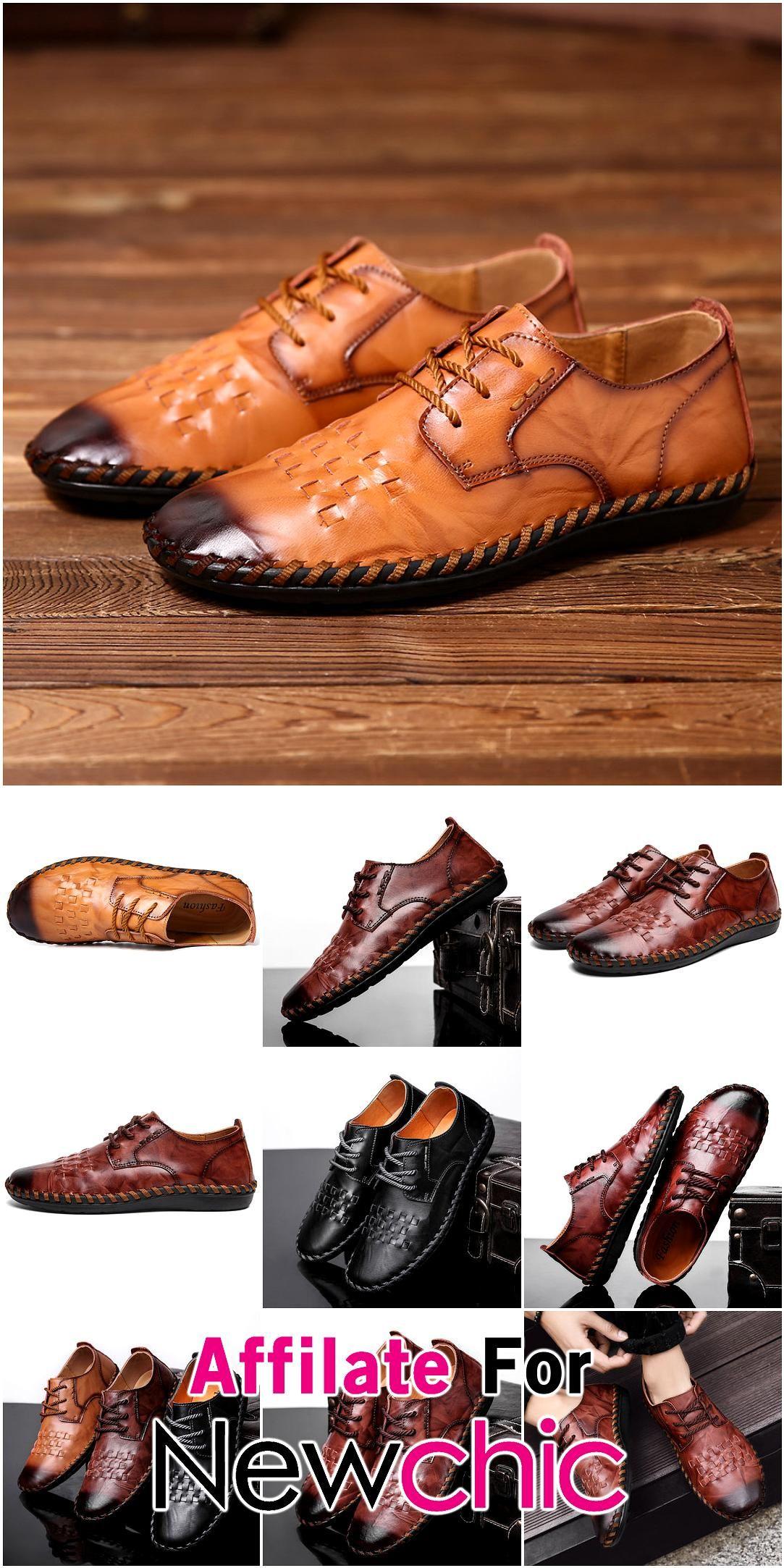 Menico Men Hand Stitching Woven Style Non Slip Soft Sole Leather Shoes USD 4615 Menico Men Hand Stitching Woven Style Non Slip Soft Sole Leather Shoes USD 4615 USD 923 50...