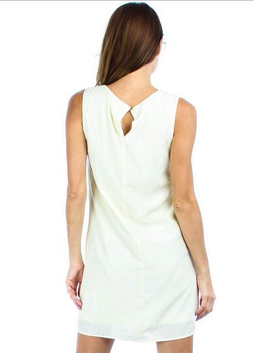 Cream Shift Dress With Crochet Front https://www.multiforsales.com/en/clothing/6727-cream-shift-dress-with-crochet-front.html