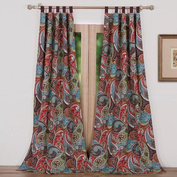 Curtain Panel Pair Purple Print 84