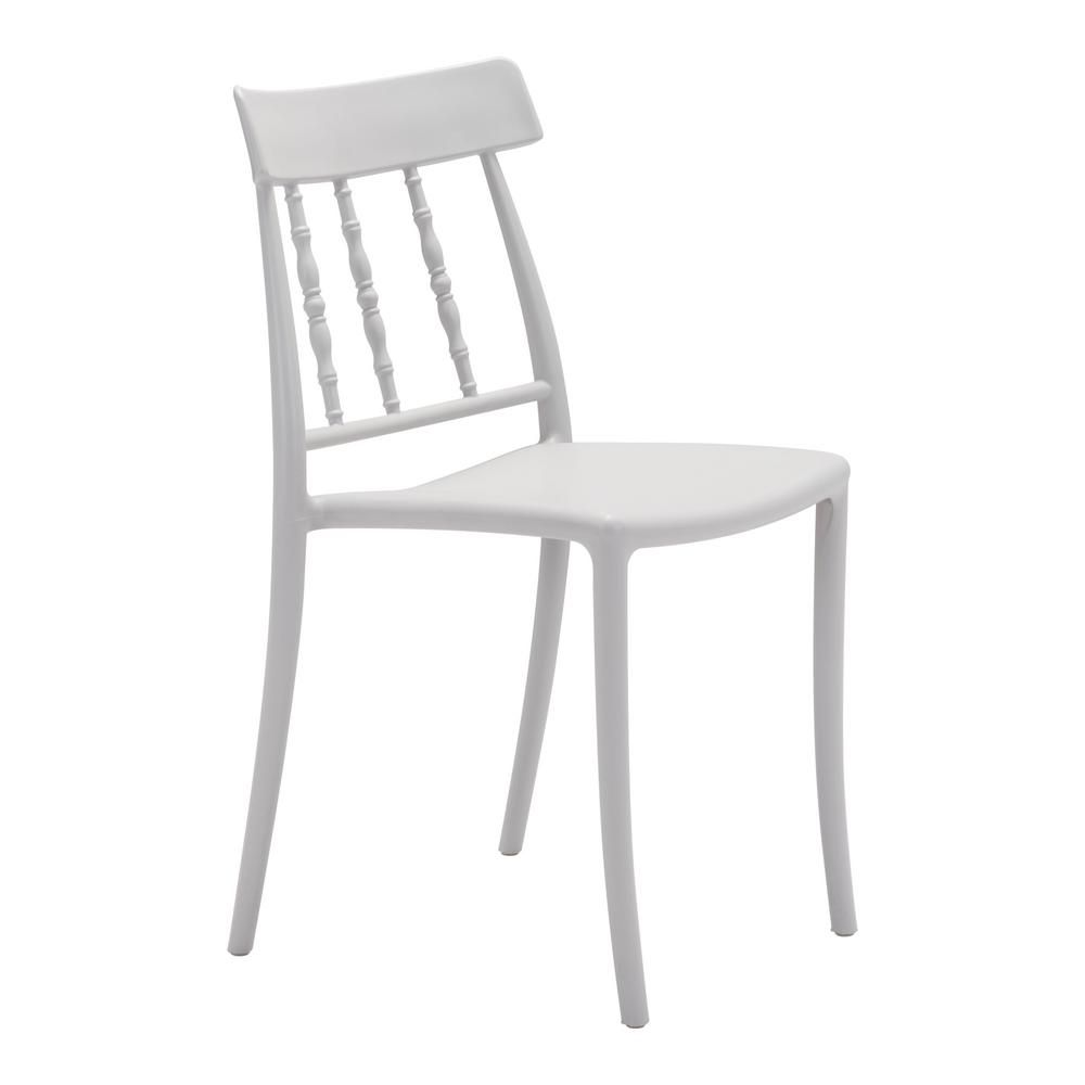 Zuo Rift Gray Plastic Outdoor Dining Chair 2 Pack Dining