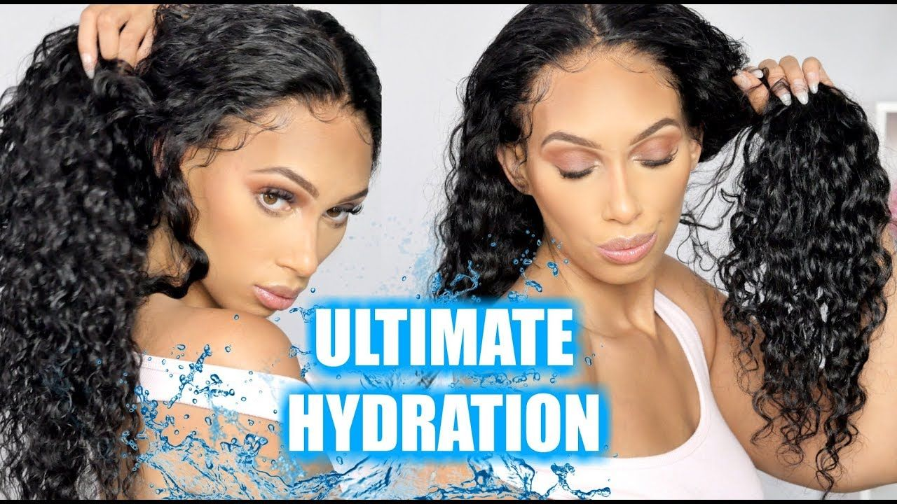 How To HYDRATE CURLY Human Hair Wigs!! Wig hairstyles