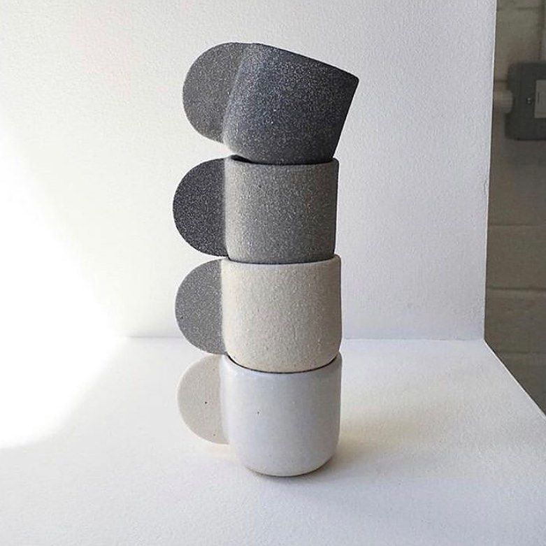 """Inspiration for Ceramicists on Instagram: """"A darling stack by @brutes_london. . . . #spintofire #pottery #handmade #ceramics #clay #art #potterylife #potsinaction…"""""""
