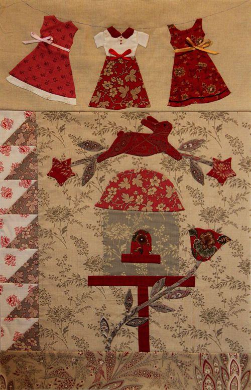 Block-5 of Le Jardin   Quilts, Quilts, Quilts   Pinterest ... : le jardin quilt pattern - Adamdwight.com