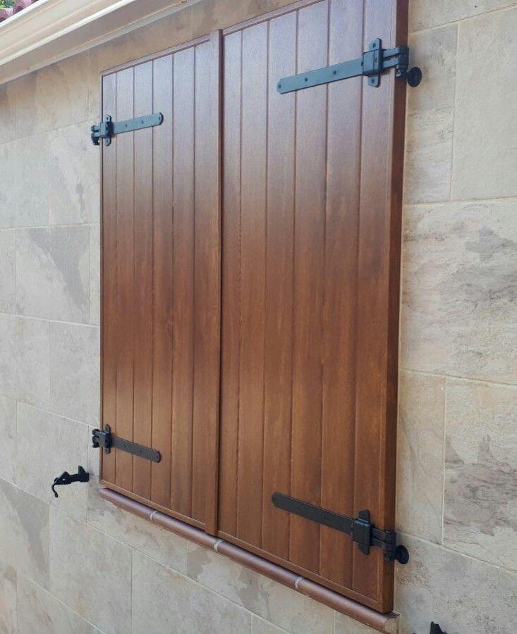 PVC imitation wooden shutter