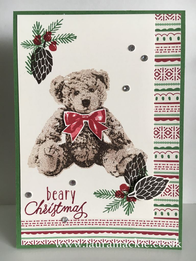 Stampin Up Baby Bear Class Project Life Cards And Christmas Cards